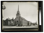 Church on corner of H St. and possibly Third St. by Augustus William Ericson