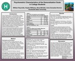 Psychometric Characteristics of the Demoralization Scale in College Students by Irene Gonzalez-Herrer, Kaylee Williams, Nena McGath, and William Reynolds