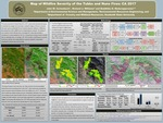 Map of wildfire severity of the Santa Rosa: CA 2017