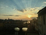 Sunset Over Ponte Vecchio in Florence by Jocelyn Bliven