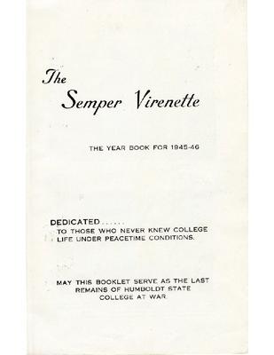 Hsu Yearbooks University Archives Humboldt State University